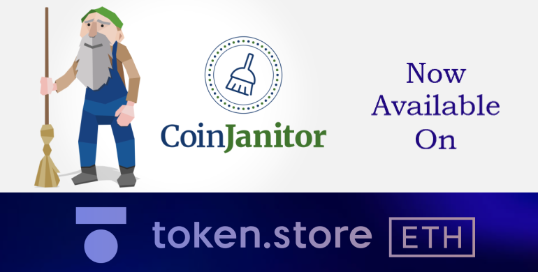 coinjanitor listed on token.store exchage